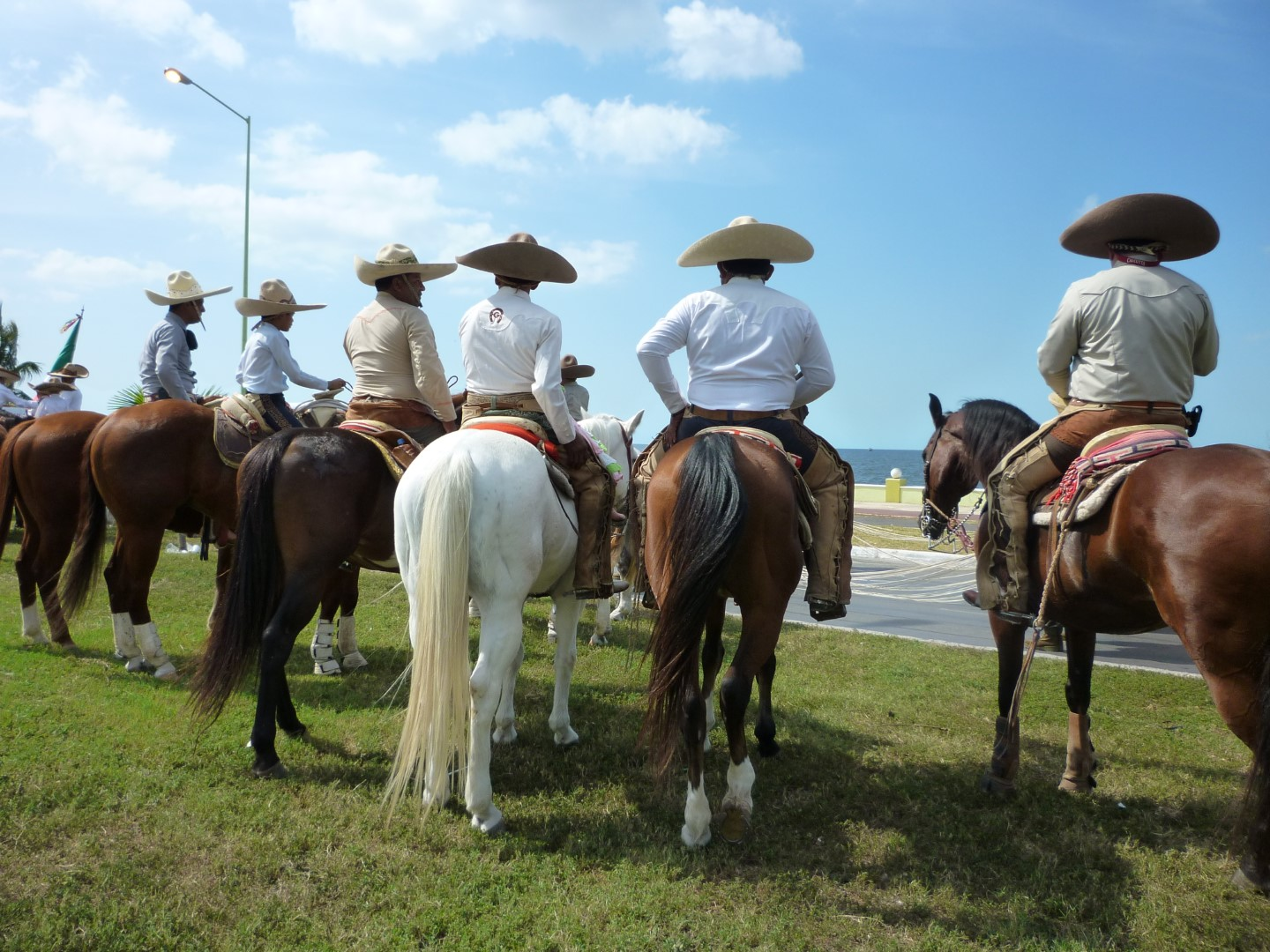 Men on horseback in Campeche
