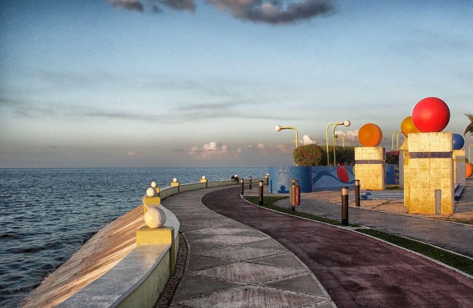 Seafront Promenade in Campeche Mexico
