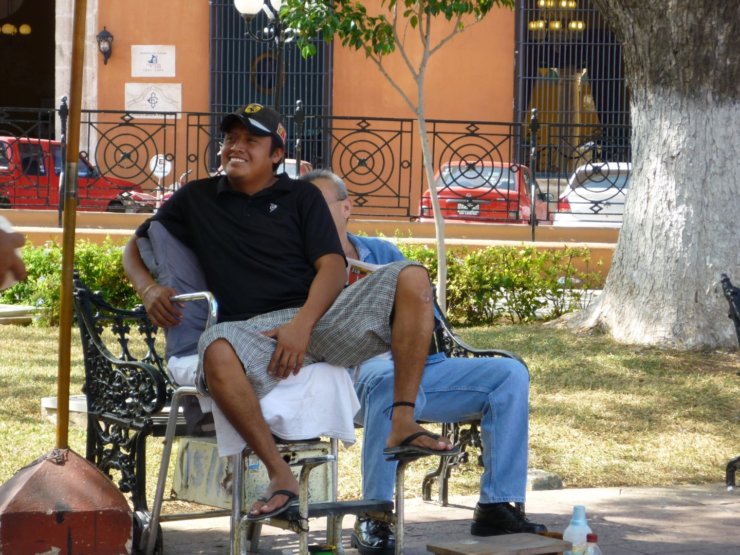 Shoeshine in Campeche Mexico