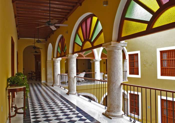 Corridor at Casa Don Gustavo Campeche