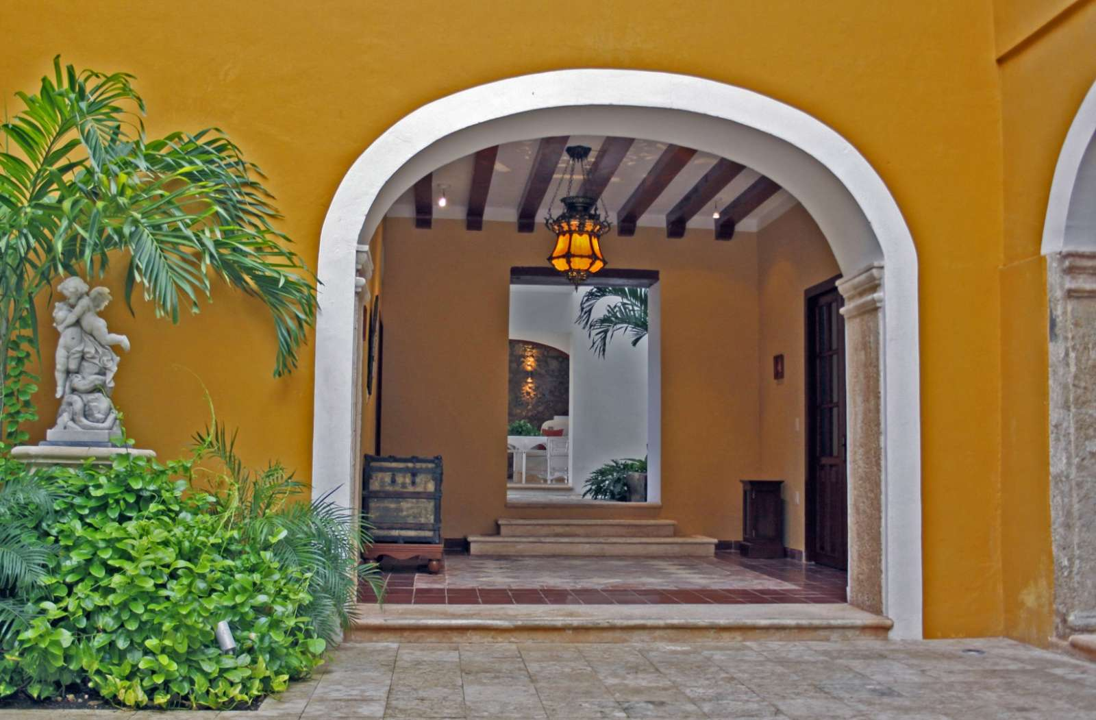 Entrance to Casa Don Gustavo Campeche