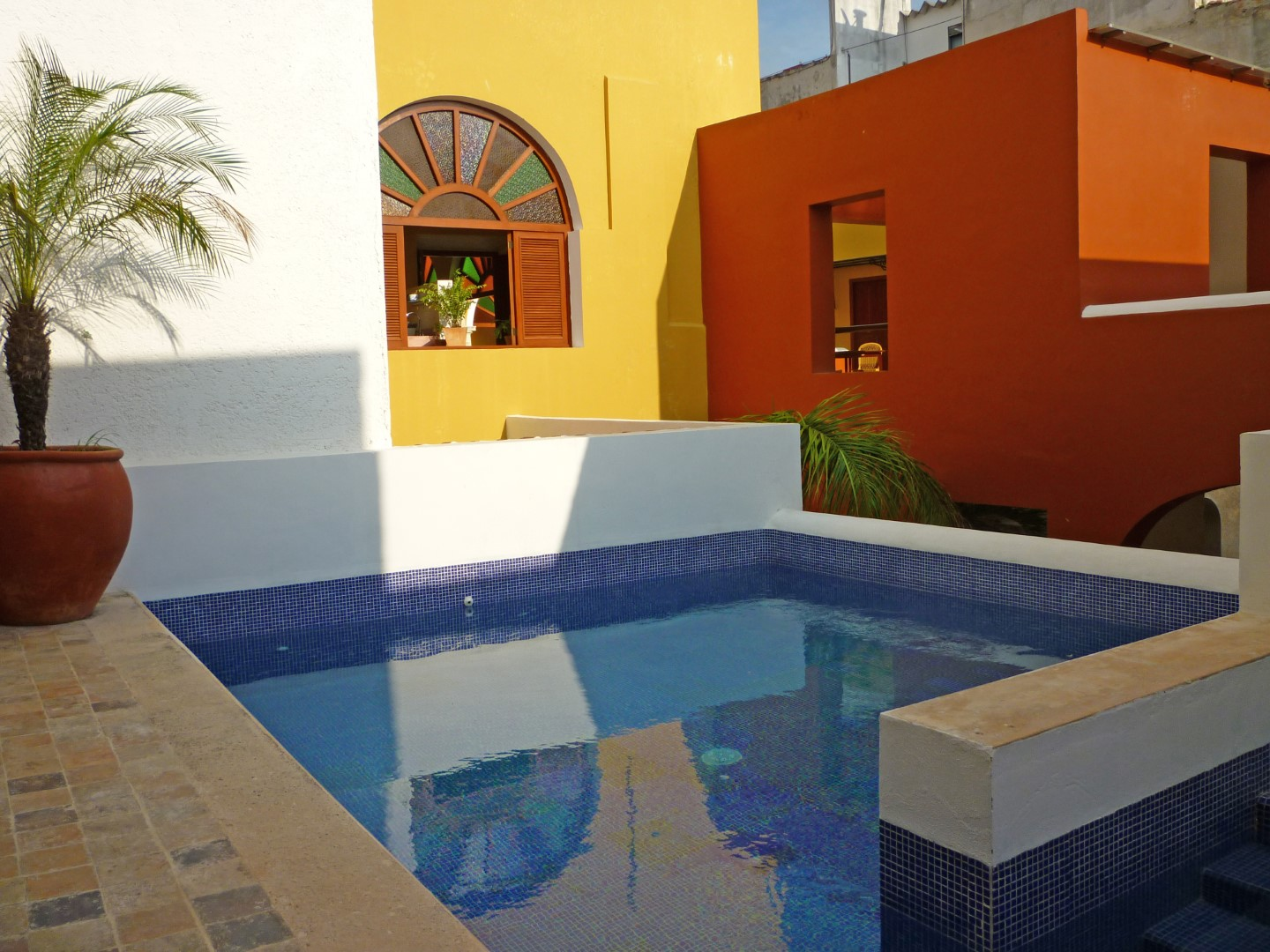 Plunge pool at Casa Don Gustavo Campeche