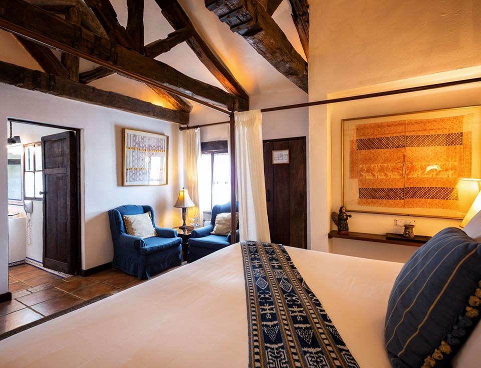 Double bed at Casa Encantada in Antigua