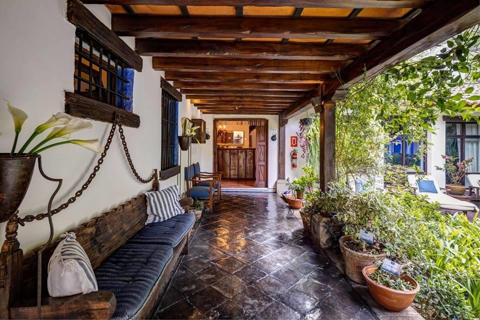 Entrance corridor at Casa Encantada in Antigua