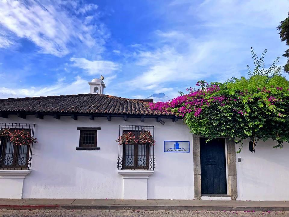 Exterior of Casa Encantada in Antigua