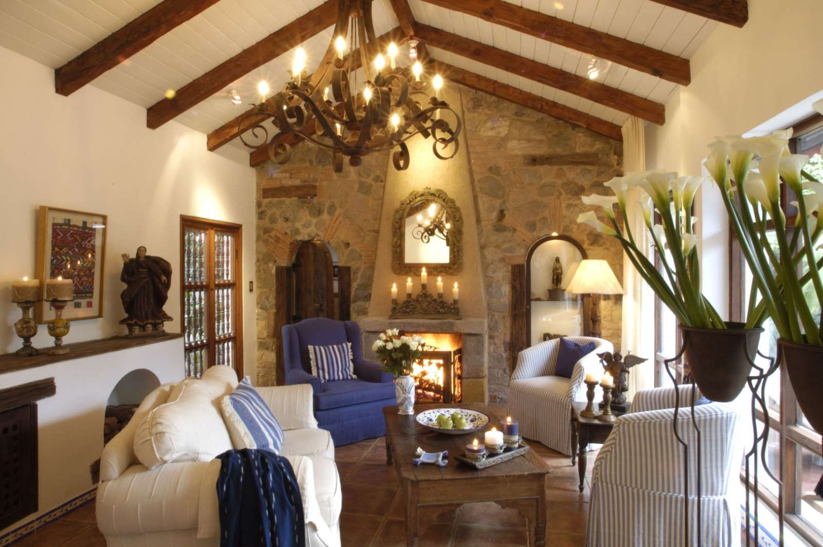 Lounge at Casa Encantada in Antigua