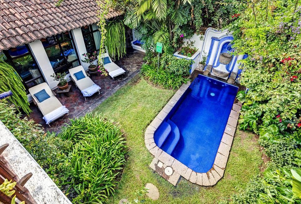 Pool from above at Casa Encantada in Antigua