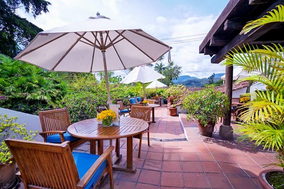 Roof terrace at Casa Encantada in Antigua