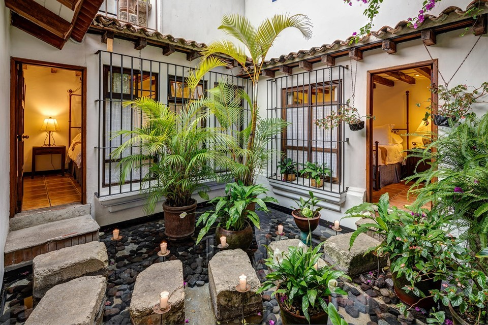 Stone steps at Casa Encantada in Antigua