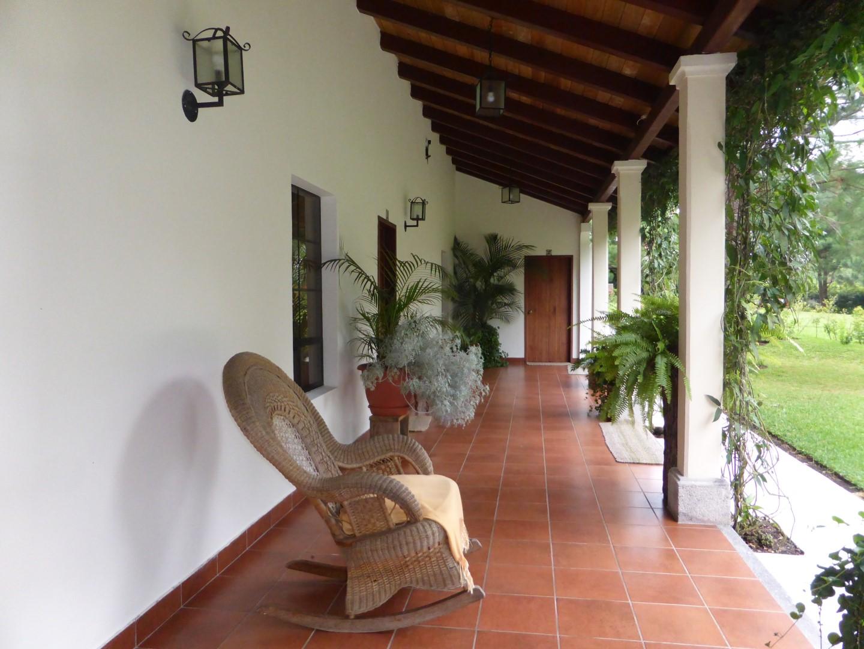 Patio at Casa Gaia in Coban