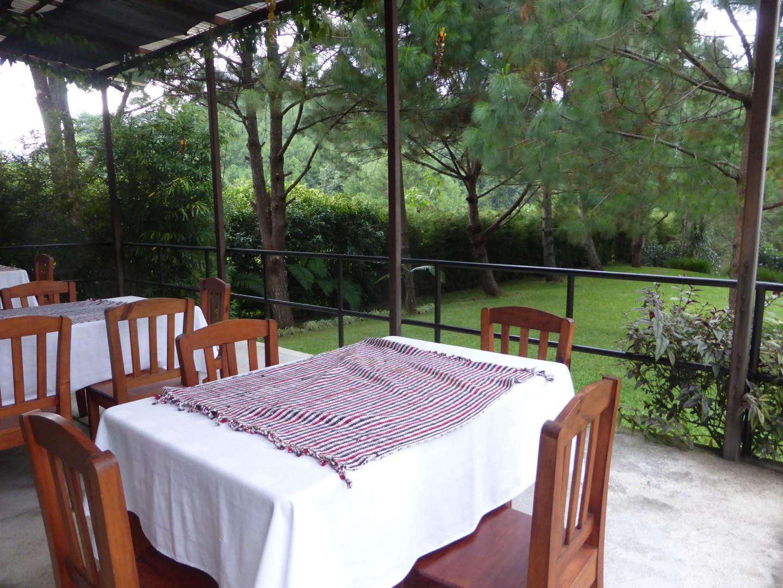 Restaurant at Casa Gaia in Coban