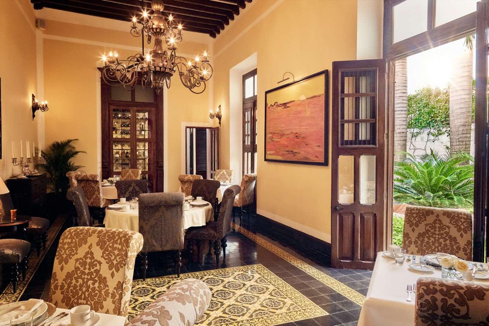 Breakfast room at Casa Lecanda in Merida
