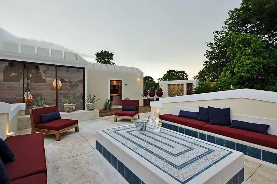 Roof terrace at Casa Lecanda in Merida