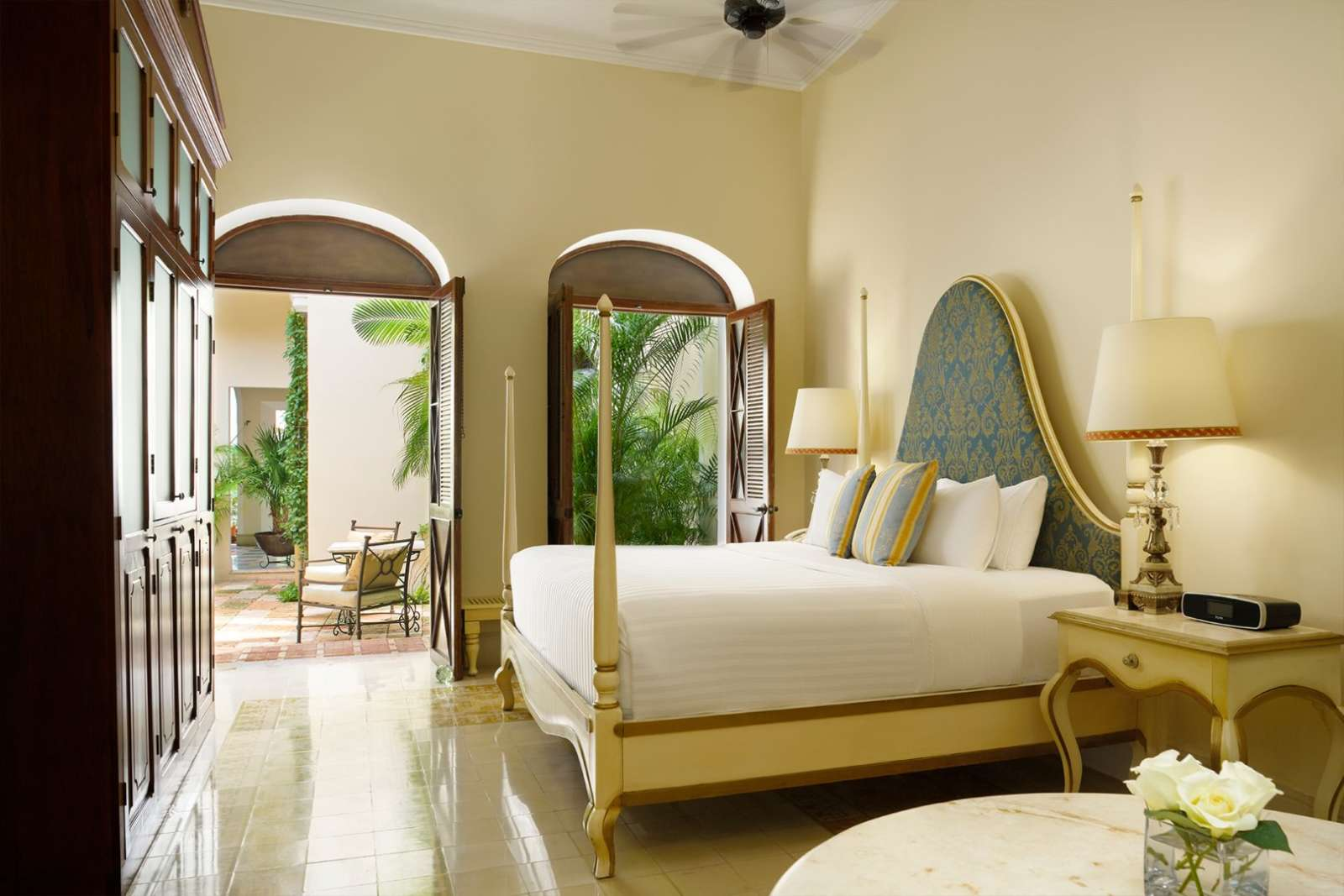 Bedroom at Casa Lecanda in Merida
