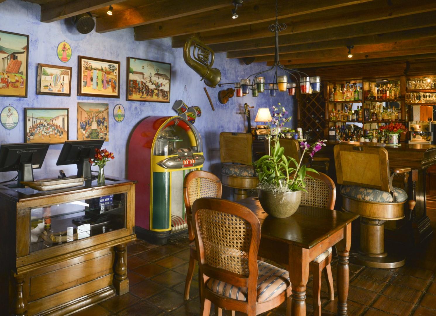 Bar at Casa Palopo in Lake Atitlan