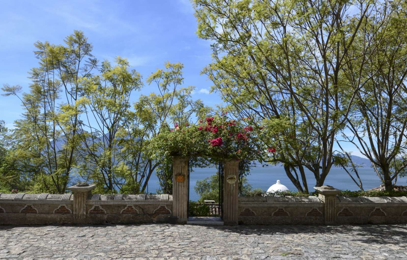 Entrance to Casa Palopo in Lake Atitlan