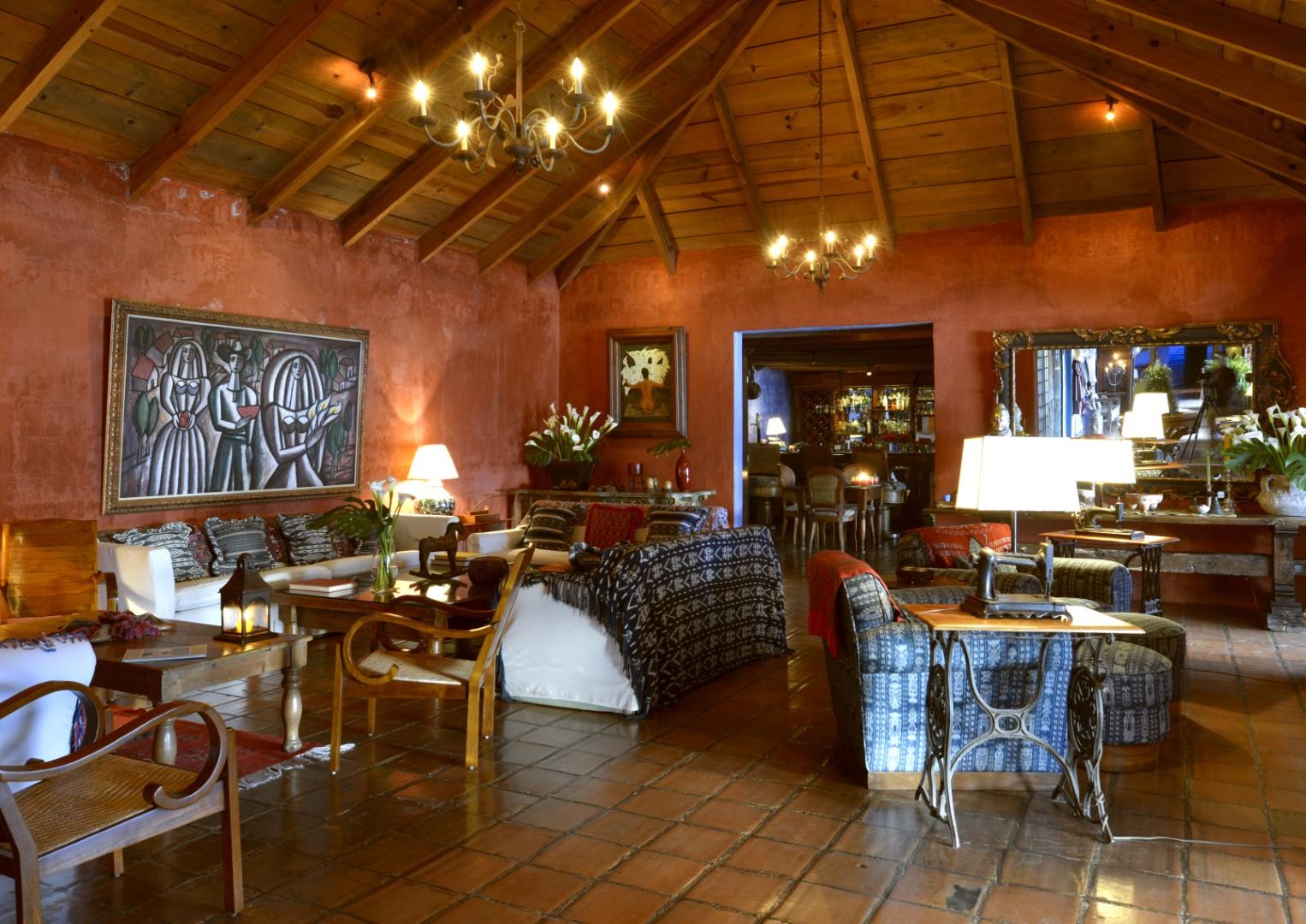 Lounge area at Casa Palopo in Lake Atitlan