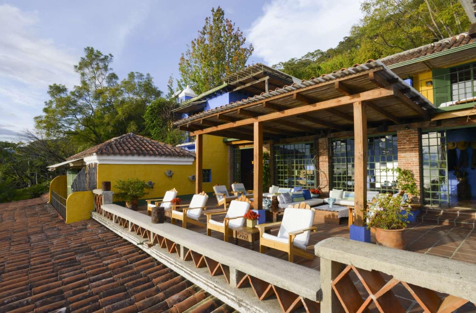 Outdoor terrace at Casa Palopo in Lake Atitlan