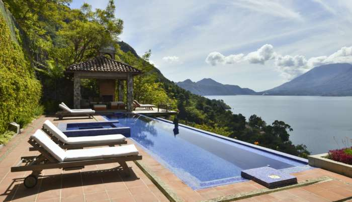 Swimming pool at Casa Palopo in Lake Atitlan