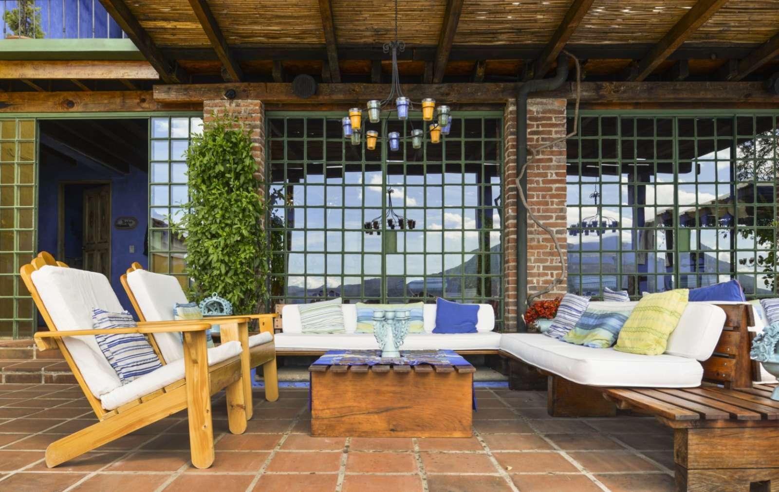 Casual outdoor seating at Casa Palopo in Lake Atitlan