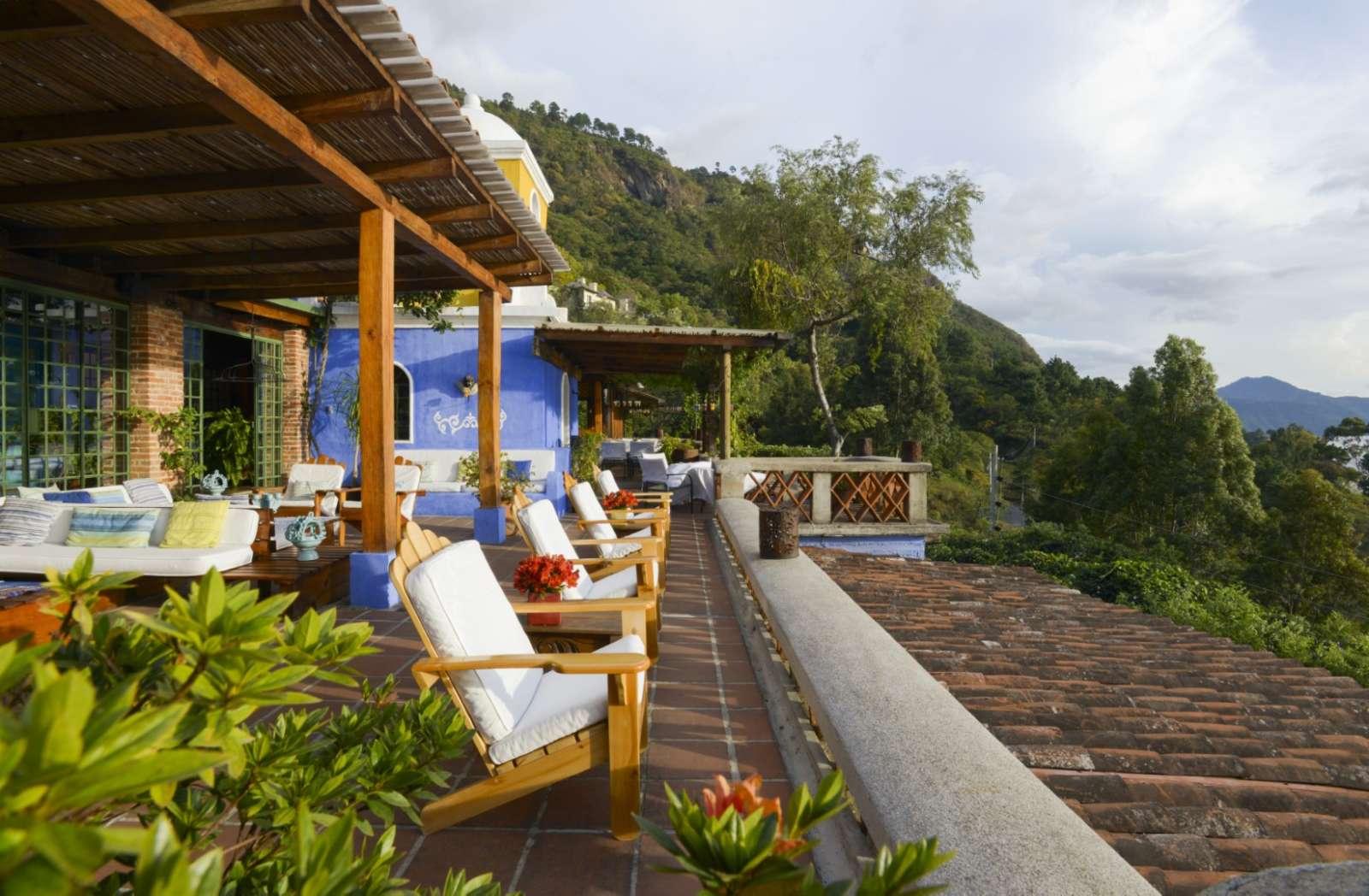 Terrace at Casa Palopo in Lake Atitlan
