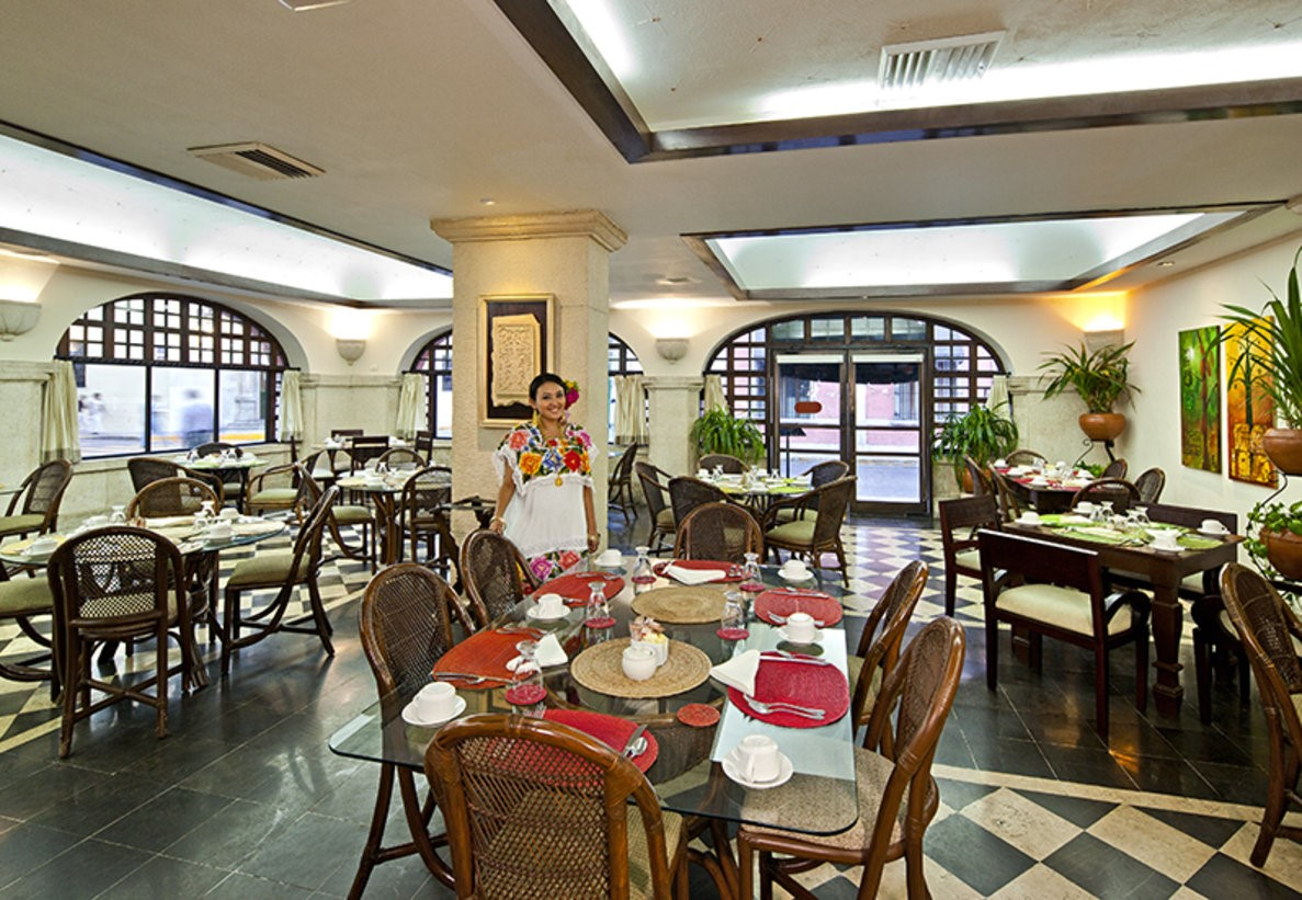 Restaurant at hotel Casa Del Balam in Merida