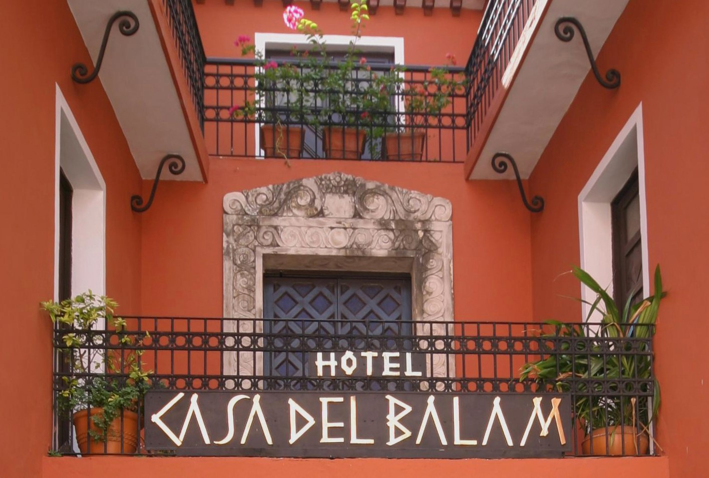 Sign for Casa Del Balam Merida