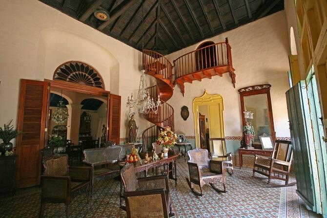 Casa Casona lounge in Remedios in Cuba