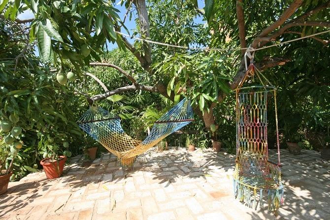 A hammock at Casa Patio Colonial in Trinidad, Cuba