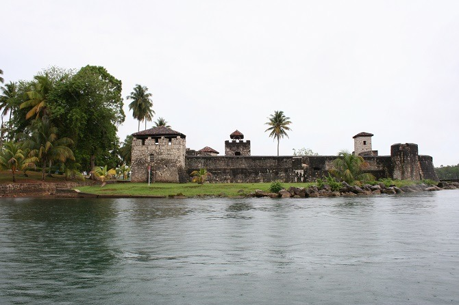 View of Castillo de San Felipe from Rio Dulce