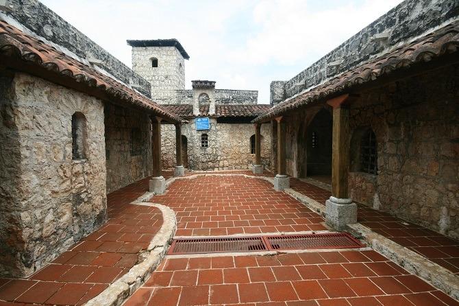 Interior of Castillo de San Felipe Guatemala