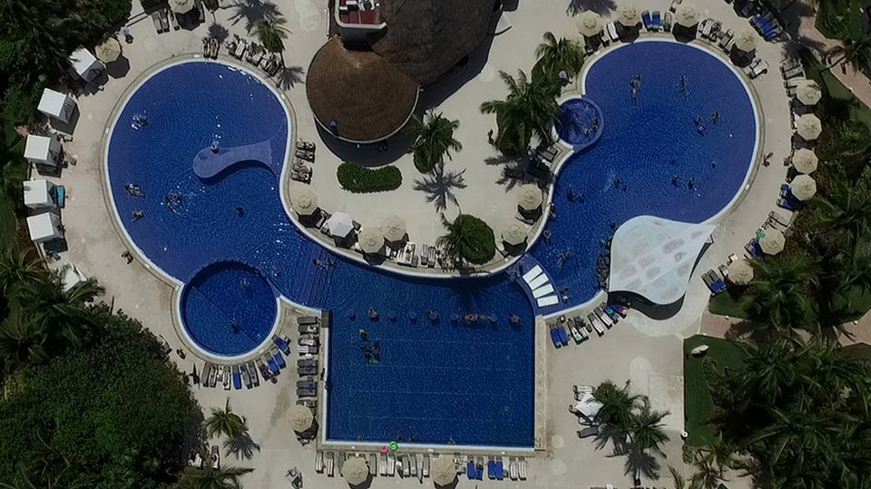 Aerial view of pool at Catalonia Playa Maroma