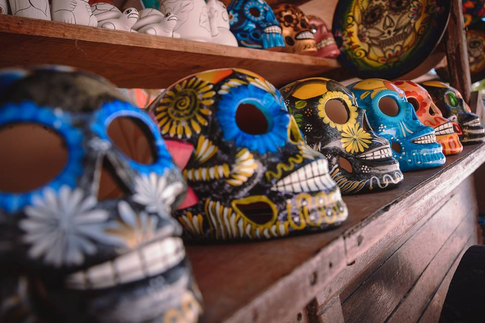Skulls in shop at Catalonia Playa Maroma