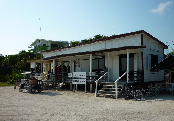 The Tropical Air terminal on Caye Caulker