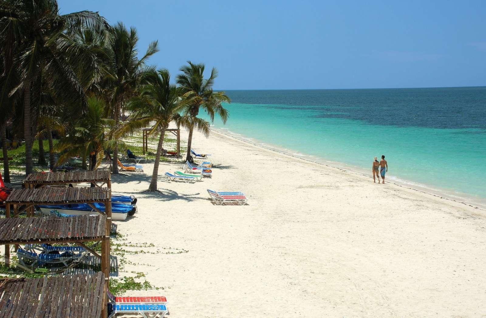 The beautiful beach on Cayo Levisa, Cuba