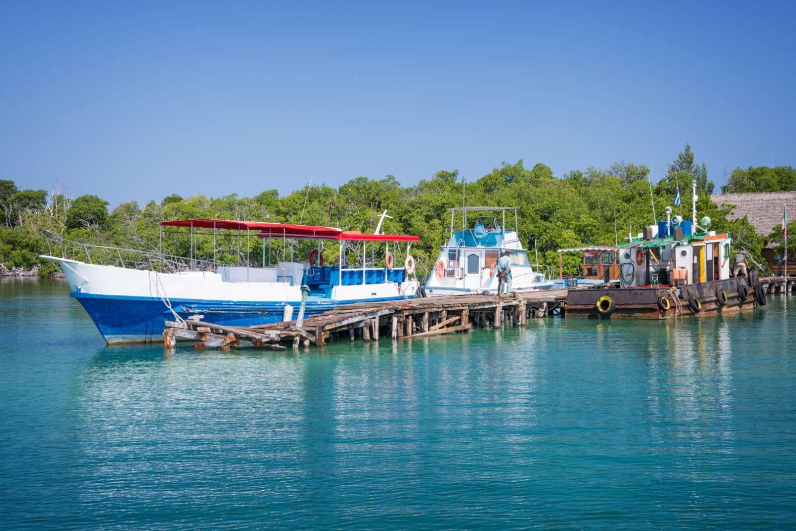 The boat pier at Cayo Levisa, Cuba