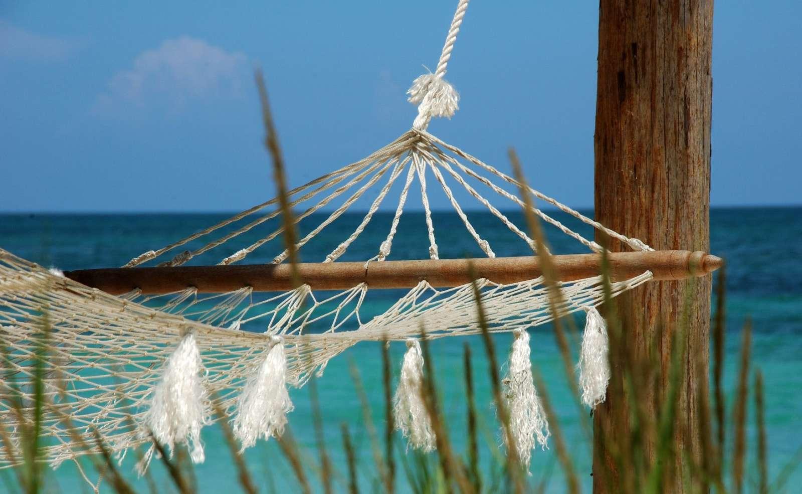 A hammock on Cayo Levisa, Cuba