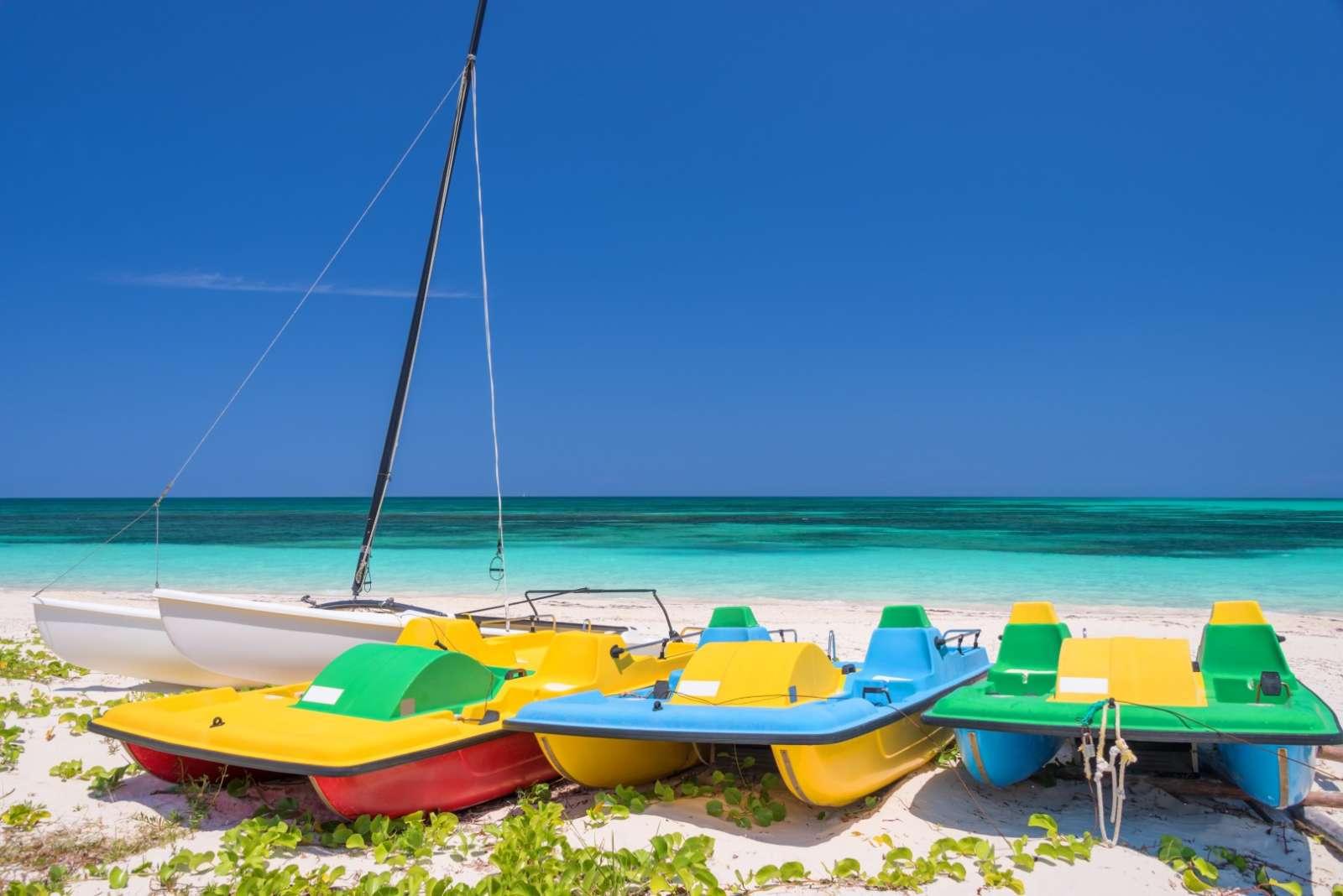Pedalo boats on Cayo Levisa, Cuba