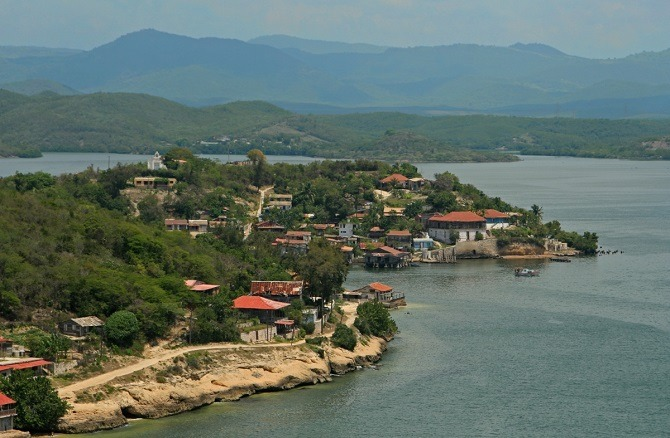 Overlooking Cayo Granma from the Morro Castle in Santiago de Cuba