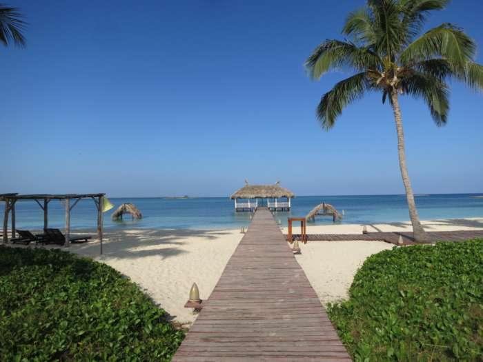 Beach pier on Cayos de Villa Clara, Cuba