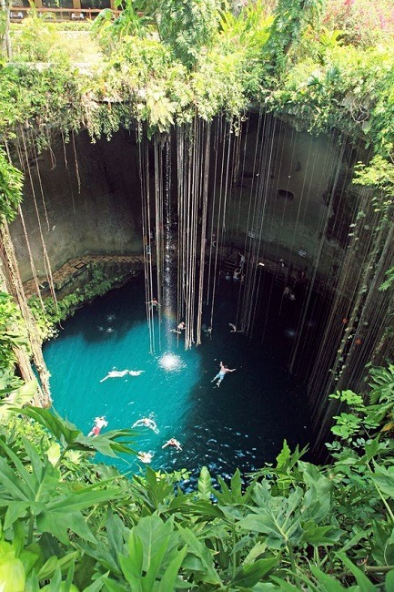 Cenote in the Yucatan