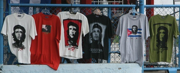 Che Guevara t-shirts on sale in Cuba