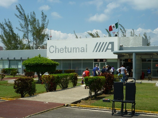 Chetumal airport in Mexico is close to the Belize border