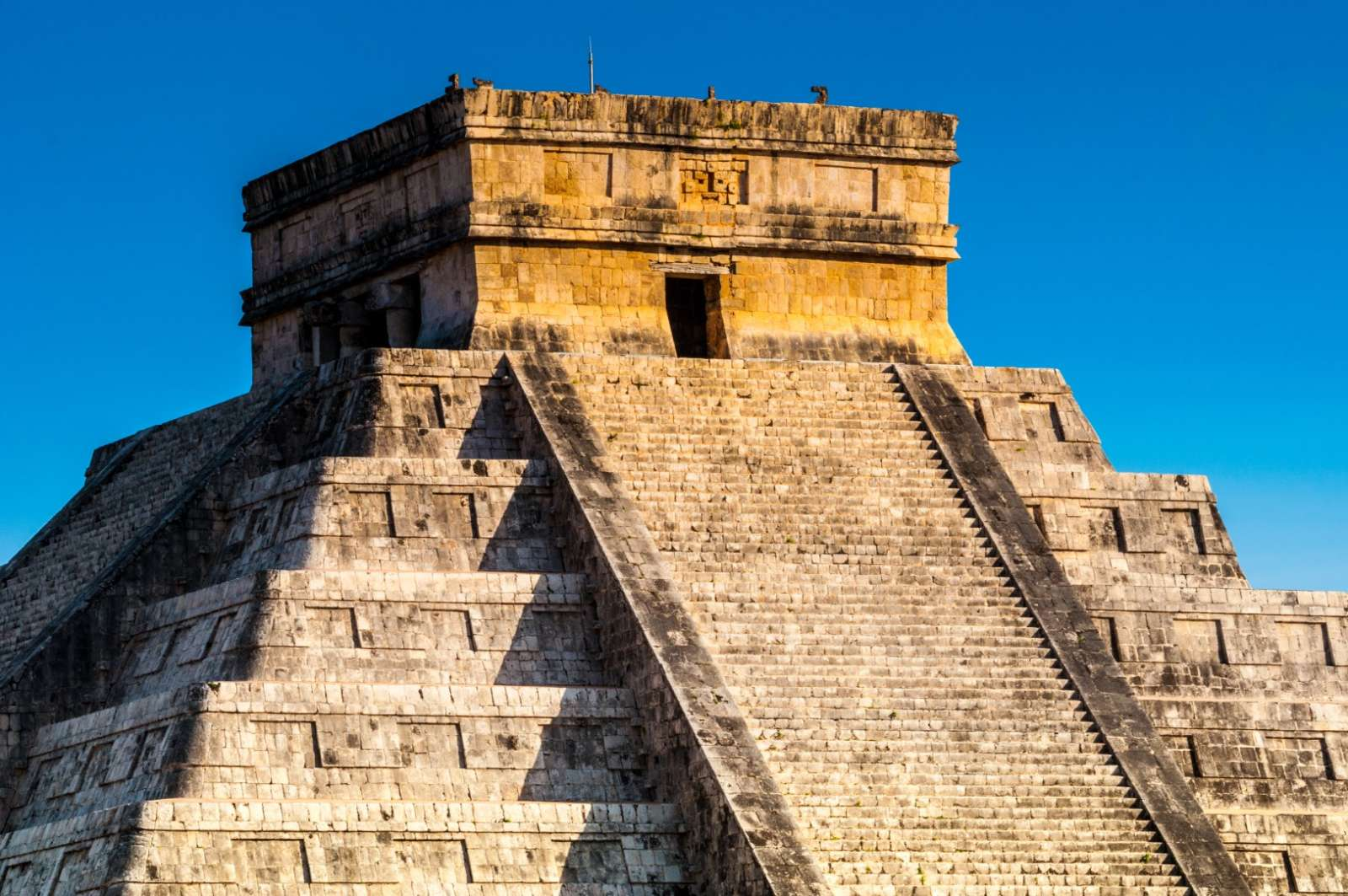 Top of pyramid at Chichen Itza