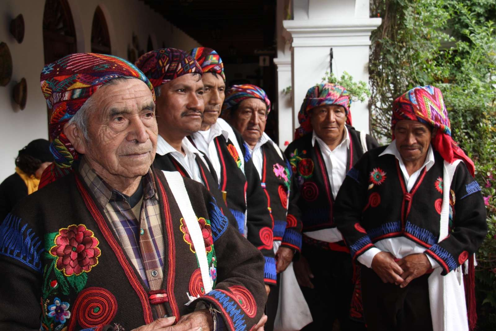 Cofrades at Chichicastenango, Guatemala