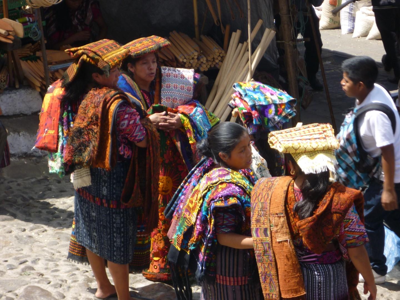 Mayan women trading at Chichicastenango, Guatemala