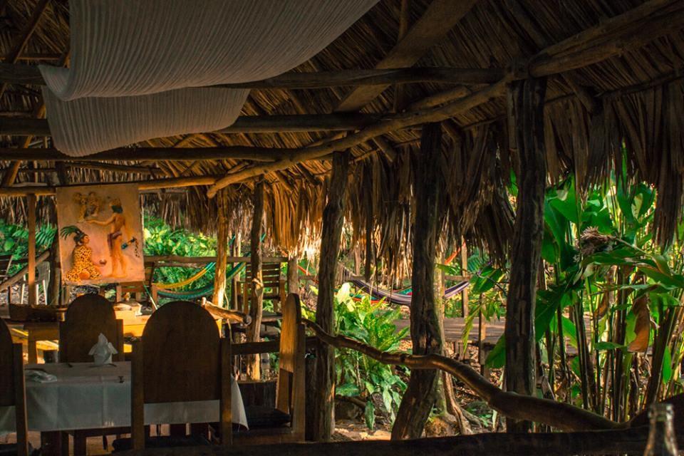 Restaurant at Chiminos Island Lodge at Petexbatun