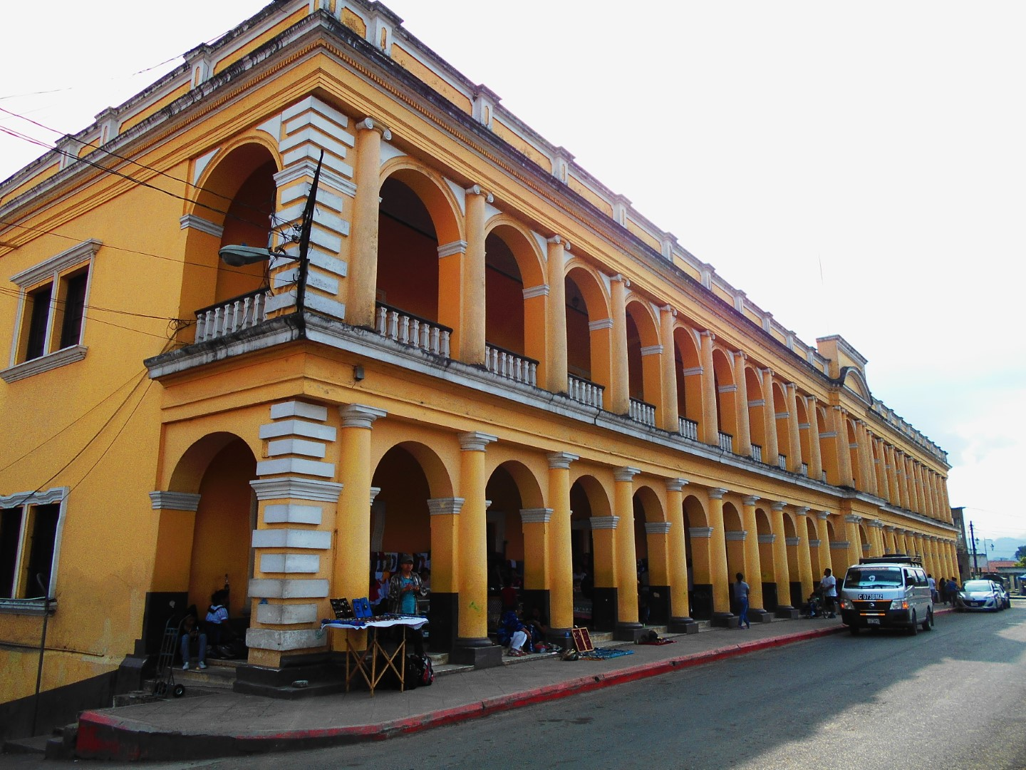 Civil building off Parque Central in Coban, Guatemala