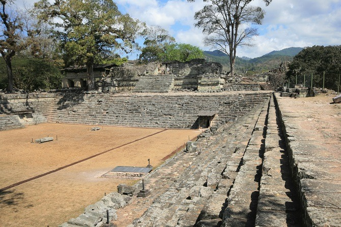 The Mayan ruins of Copan in Honduras