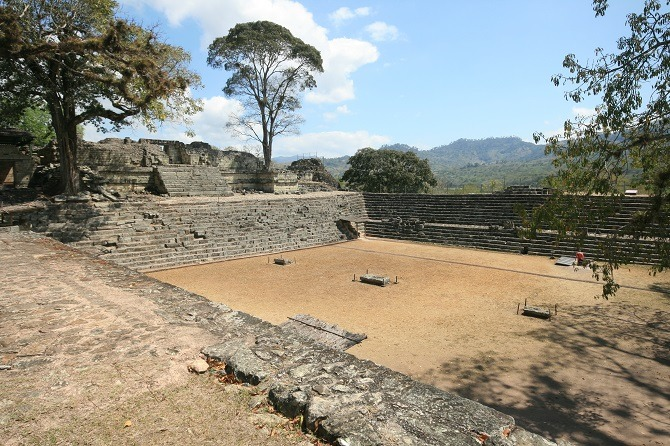 The Mayan ruins at Copan in Honduras